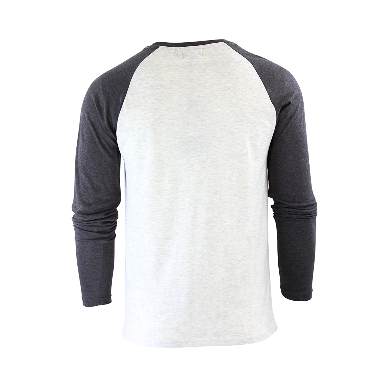 b150410b9c1c Mens T-Shirt Brave Soul Osbourne Cotton Long Sleeved Crew Neck Casual Top:  Amazon.co.uk: Clothing