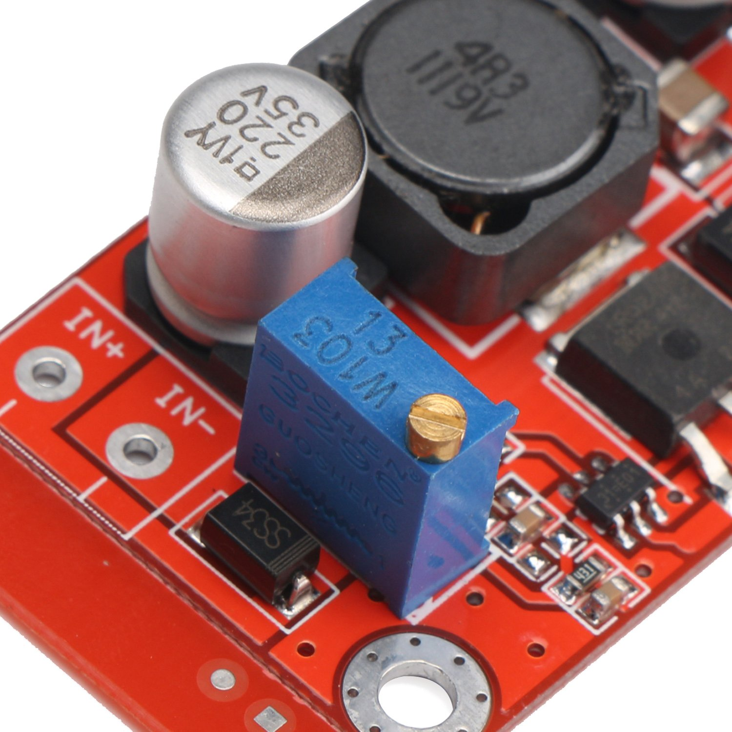 Drok Dc Voltage Regulator Boost Converter 3 6v To 5 32v Step Up Volt Here Is An Example Positive Negative Circuit It Will Module Adjustable Dual Output Supply