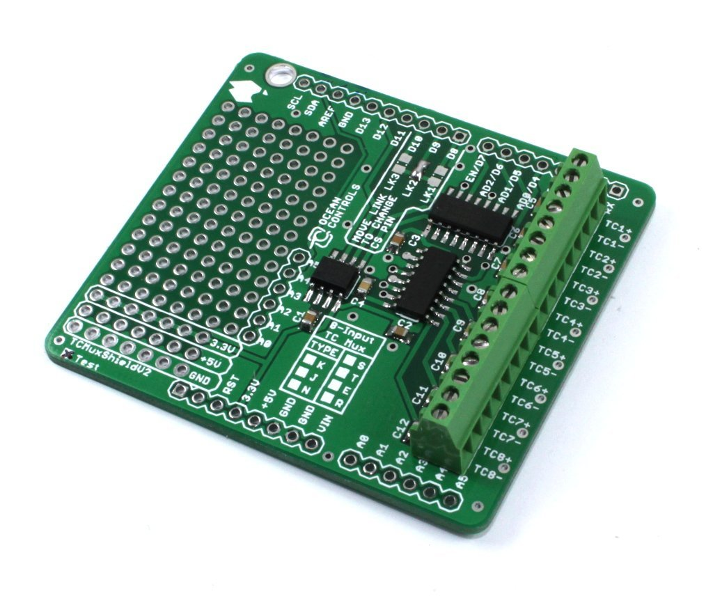 Arduino Thermocouple Multiplexer Shield (E - MAX31855E)