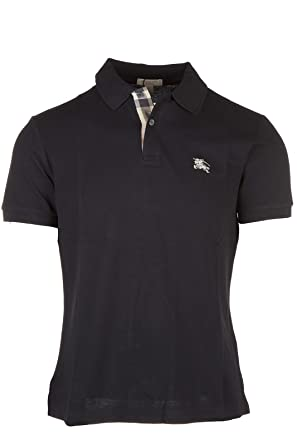 c01a7d0e BURBERRY Brit White Check Placket Pique Men's Polo Shirt Modern Fit  (XX-Large)