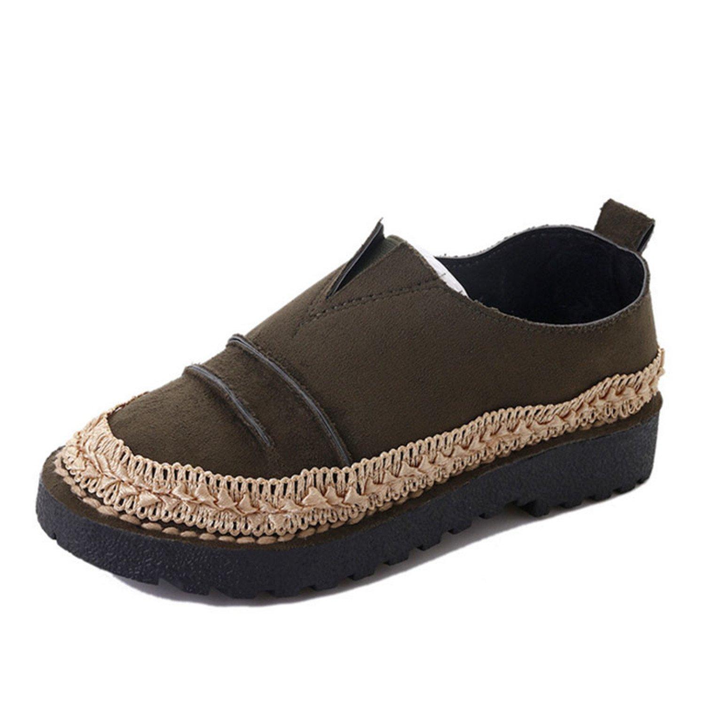 Amazon.com | Women Retro Flats Casual Women Shoes Shallow Lace-Up Female Shoes Round Toe Flat Shoes Woman | Flats