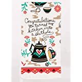 Blue Q Dish Towel, Congratulations - You Turned My Kitchen Into a Shithole. Screen-Printed in Rich, Vibrant Colors, 100% Cott