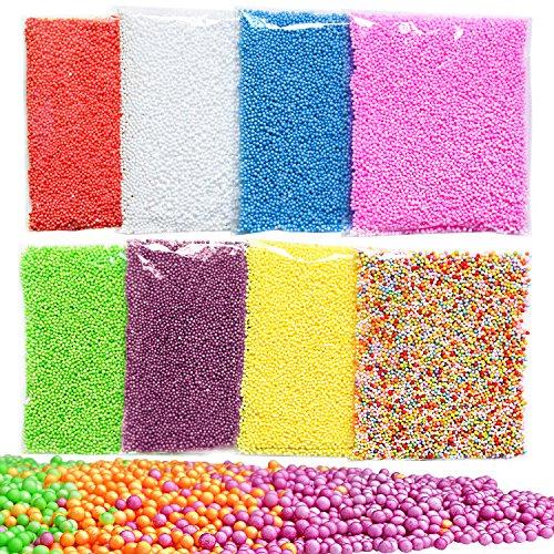 Giant Foam Ball (GeMoor Mini Styrofoam Balls for Slime, Small Tiny Foam Beads for Making Foam School Arts Crafts Supplies, Piece 8)