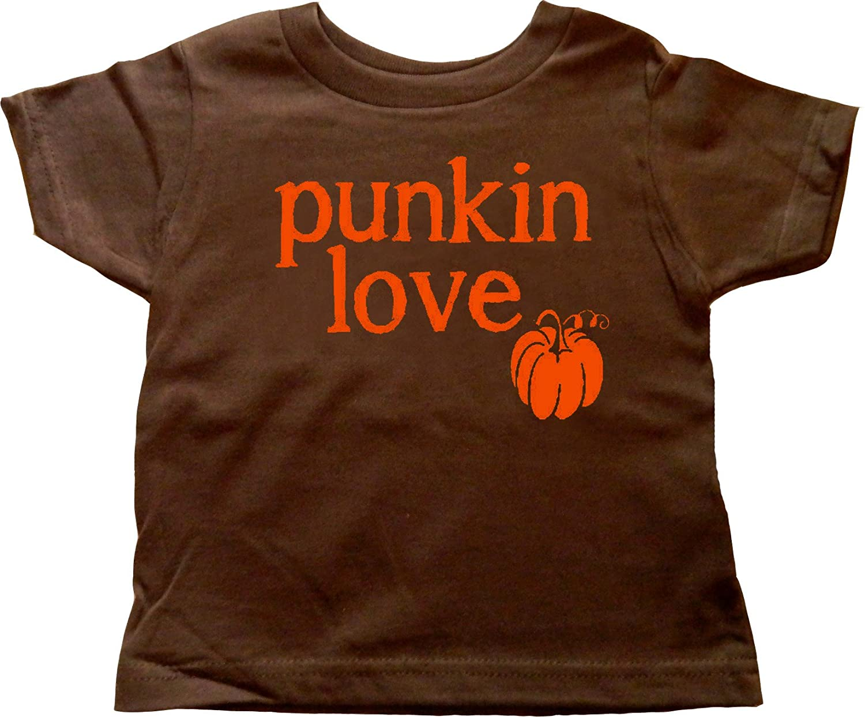 Custom Kingdom Baby Boys//Girls Punkin Love Pumpkin T-Shirt