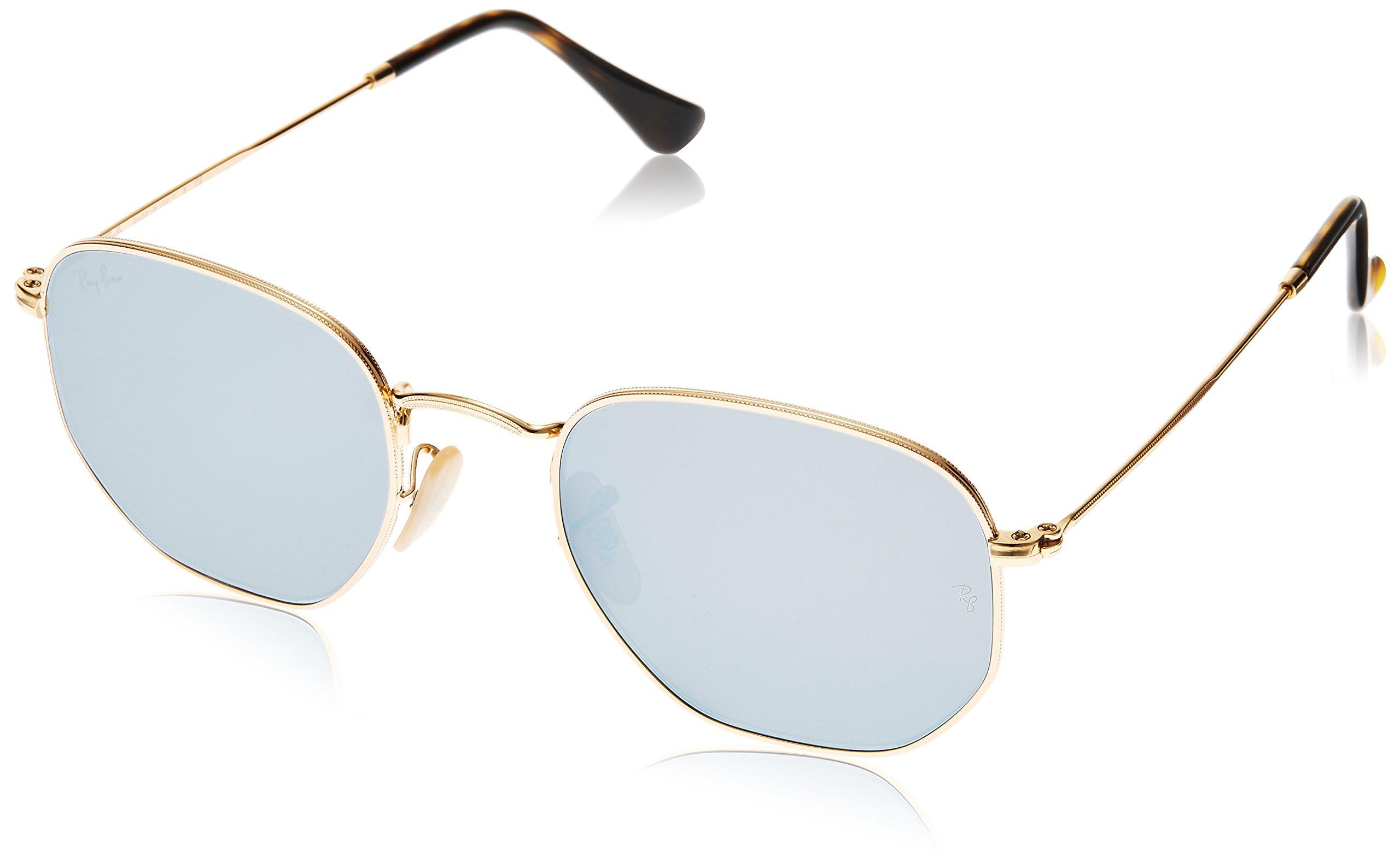 Ray-Ban RB3548N 001/9O Non Pol Sunglasses Gold Frame/ Light Blue Lenses 51mm