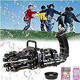 Gatling Bubble Machine 2021,8-Hole Bubble Toy for Toddler, Automatic Bubble Maker Machine Electric, Children's Bubble Machine