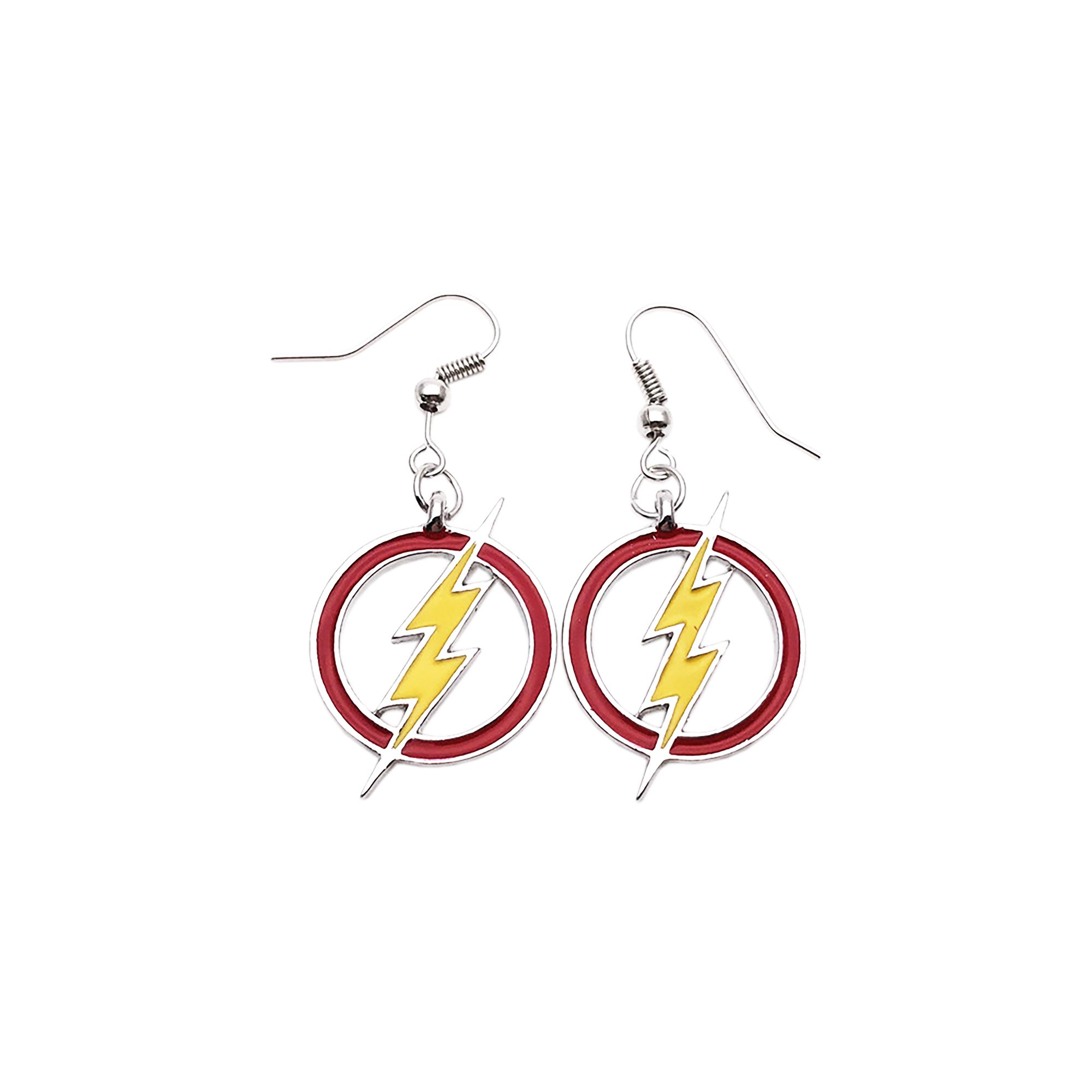 Outlander DC The Flash Logo Earring Dangles In Gift Box From
