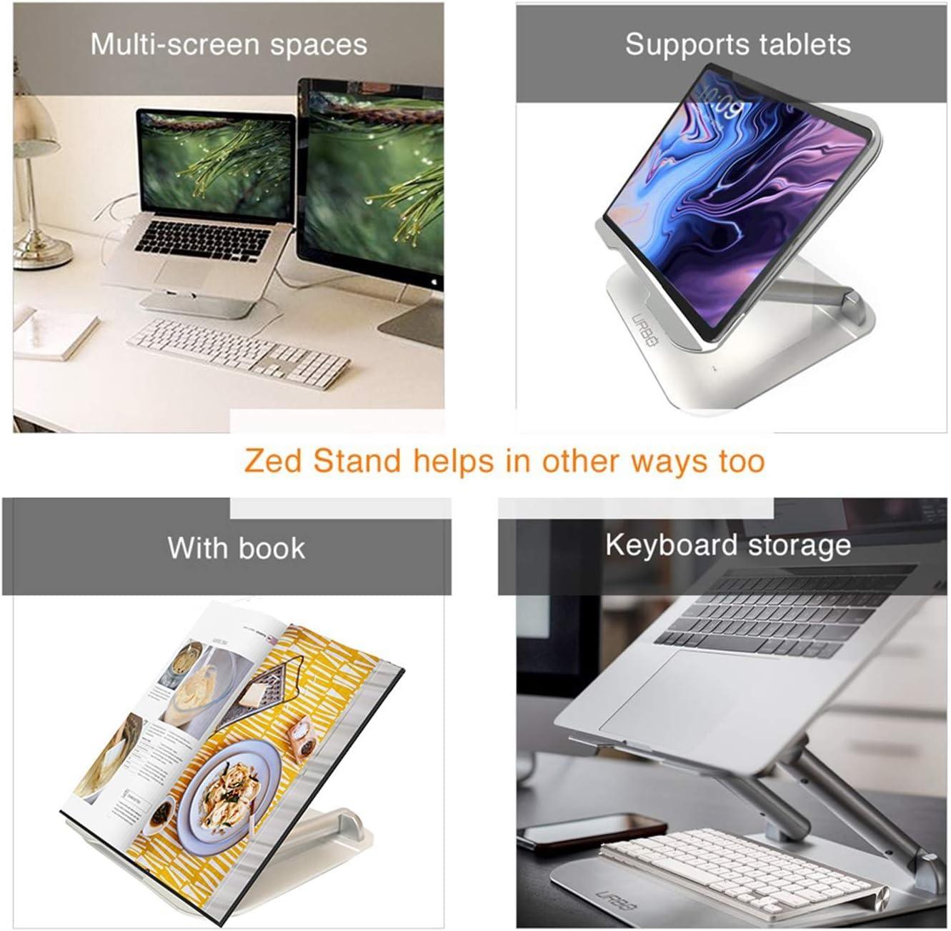 Urbo Koets Mehrzweck Laptop St/änder Vertikal und Horizontal Notebook St/änder mit Zwei Halterungen f/ür Verschiedene Breiten Perfektes B/üro Zubeh/ör Geschlossener Modus