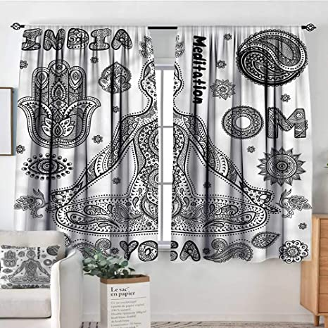 Amazon.com: familytaste Yoga, cortinas de decoración para ...