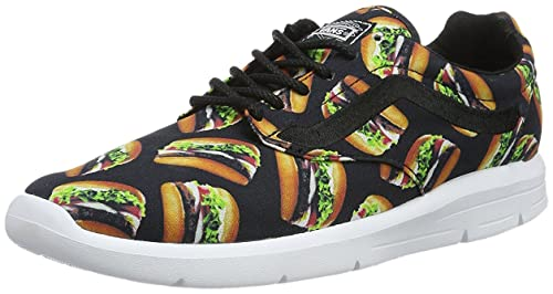 63a3208a10 Vans Men s Black Burger Print Lace-Up Sneakers-UK 10.5  Buy Online ...