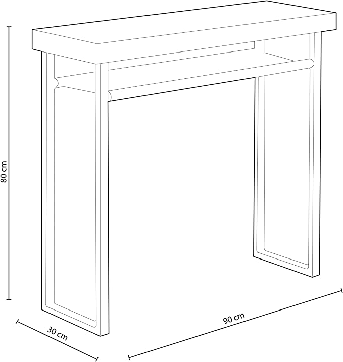 x 30 cm x 80 cm profondeur longueur Adec Meuble d/'entr/ée Dimensions: 90 cm hauteur Salle /à manger en Ch/êne Sauvage et Blanc Natural