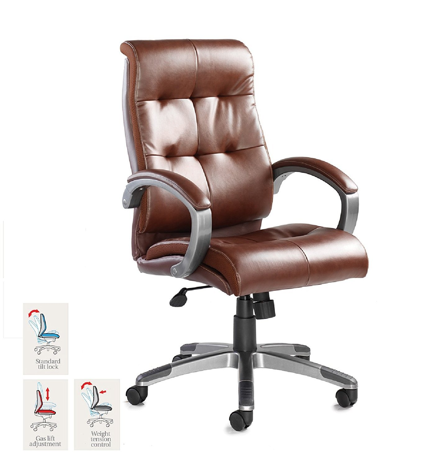 Catania Leather Faced Executive Chair   Height: 1095 1185 MM; Width: 645