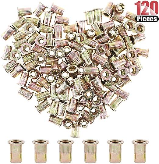3//8-16 UNC Rivnut Hilitchi 60 Pcs UNC Rivet Nuts Threaded Insert Nut