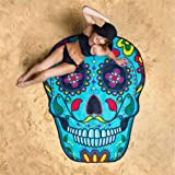 Yesido. Seven Color Skull Section Super Soft Beach Towel Blanket