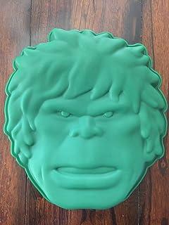 Amazon iron face man mask silicone birthday cake pan candy mold hulk the avengers cake pan silicone mold maxwellsz