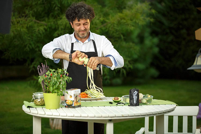 Spiral Slicer Spiralizer Complete Bundle - Vegetable Spiralizer and Cutter - Zucchini Pasta Noodle Spaghetti Maker by Kitchen Supreme (Image #8)