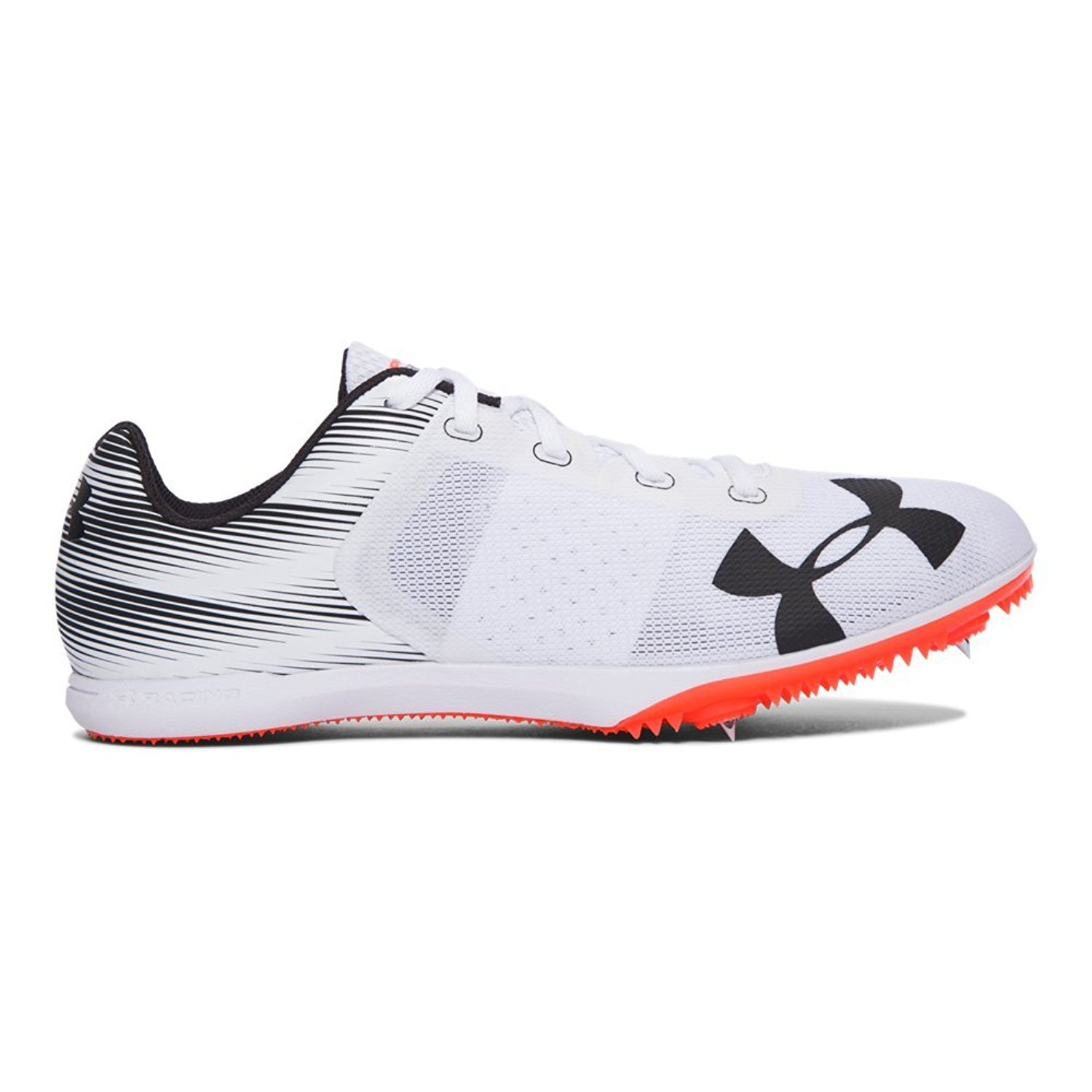 Under Armour Men's Kick Distance Spike Sneaker, White Black 1273940