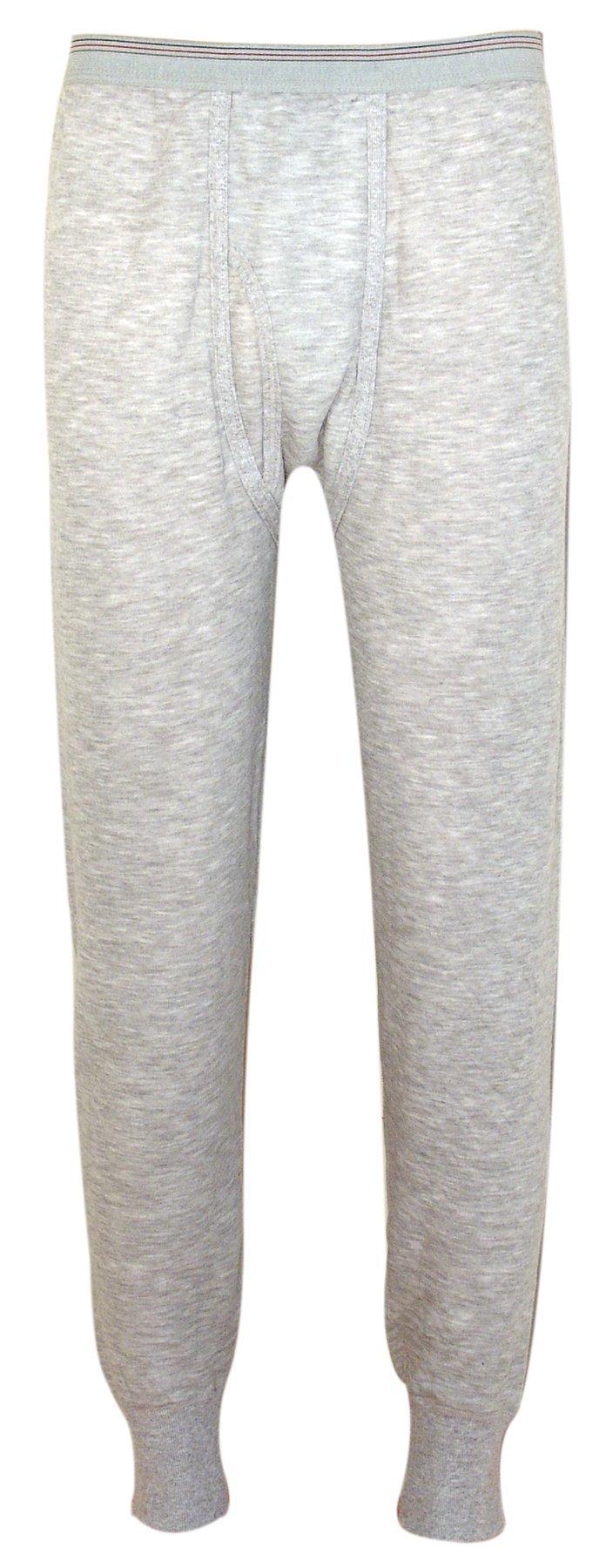Indera Men's Two-Layer Performance Thermal Underwear Pant with Silvadur, HeatherGrey, Medium by Indera
