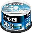 maxell 録画用 (1回録画用) BD-R 地上デジタル180分 BSデジタル130分 4倍速対応 インクジェットプリンタ対応ホワイト(ワイド印刷) 50枚 スピンドルケース入 BRV25WPE.50SPZ
