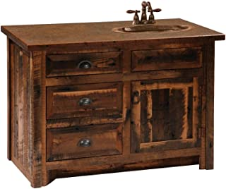 product image for Authentic Barn Wood Vanity - Custom Sizes - Sink Position Options