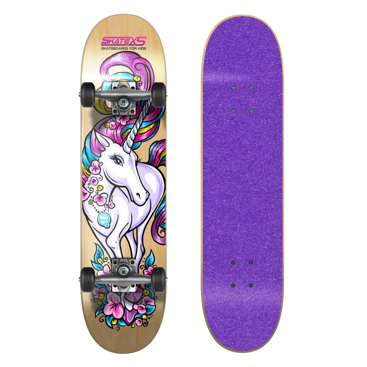SkateXS Beginner Unicorn Girls Skateboard by SkateXS
