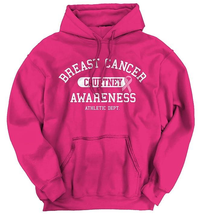 Campaña contra el cáncer de mama I Wear rosa para Courtney personalizado camiseta sudadera con capucha sudadera: Amazon.es: Ropa y accesorios