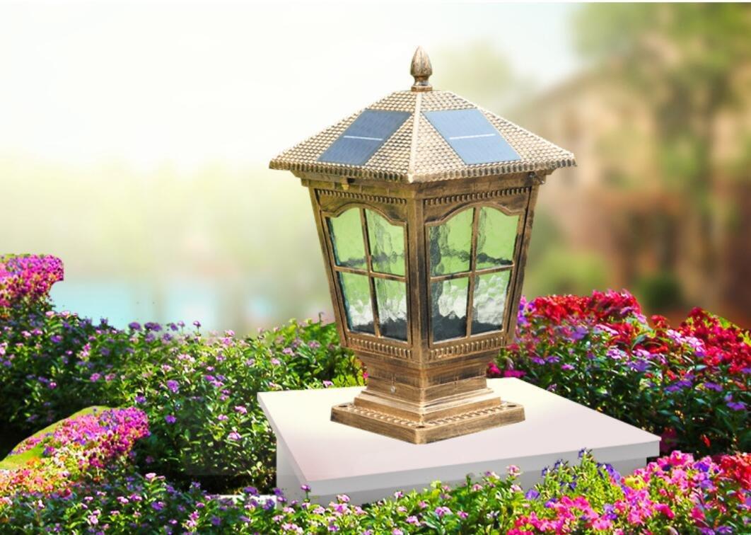 YZL/ Fence post lights/wall lights/Villa garden light/gate home waterproof lamp/solar pillar lamp