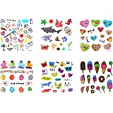 GGSELL GGSELL look like real temporary tattoos 6pcs Cartoon tattoos for kids fake tattoo stickers in a packages,including cartoon fishes,cut animals,ice cream,candy,seaworld animals,hearts,birds,etc.