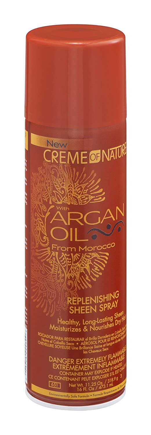Creme Of Nature Argan Oil Sheen Spray 11.25 Ounce (333ml) (3 Pack)