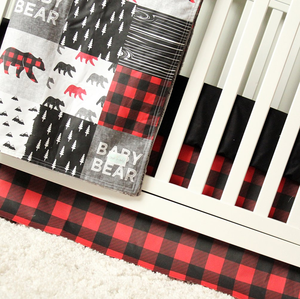 Image of Baby Bear 3 Piece Crib Bedding Set Home and Kitchen