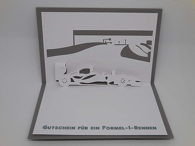 Amazon Gutschein Karte.Pop Up Karte Gutschein Formel 1 Rennen