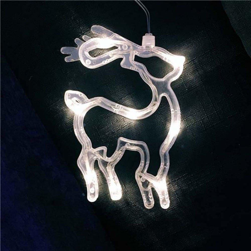 MyEasyShopping Deer LED Christmas Decorative Hanging Light Window Sucker Lamp White by MyEasyShopping (Image #2)
