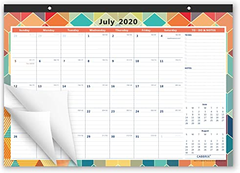 Amazon Com Cabbrix 2020 2021 Academic Year Monthly Desk Wall Calendar Desktop Calendar For Home Schooling Plan 17 X 12 Inches Schedule For Office And Home Office Products