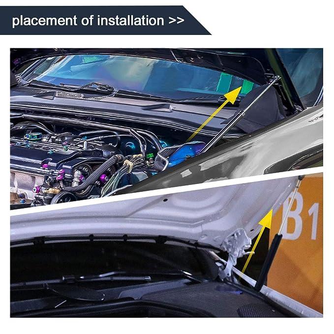 sourcingmap Car Force 60kg Lift Support Shock Strut Gas Spring 17inch