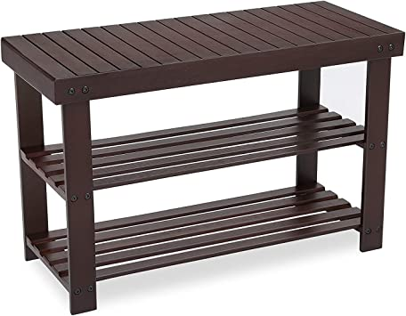 Bamboo Stool Shoe Cabinet Shoe Rack Garden Foot Storage Stool Simple Style Home
