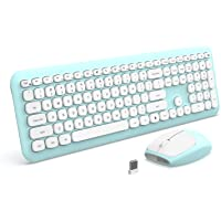 Wireless Keyboard and Mouse, Jelly Comb 2.4G Slim Full Size Keyboard Mouse Combo with Number Pad for PC Desktops…