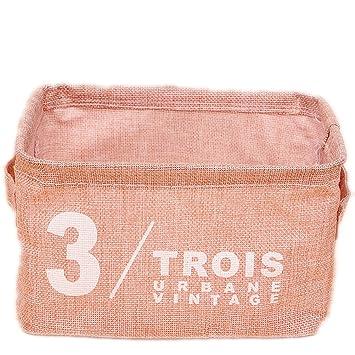 OUNONA Cajas decorativas de almacenamiento plegables para estantes escritorios (rosa): Amazon.es: Hogar
