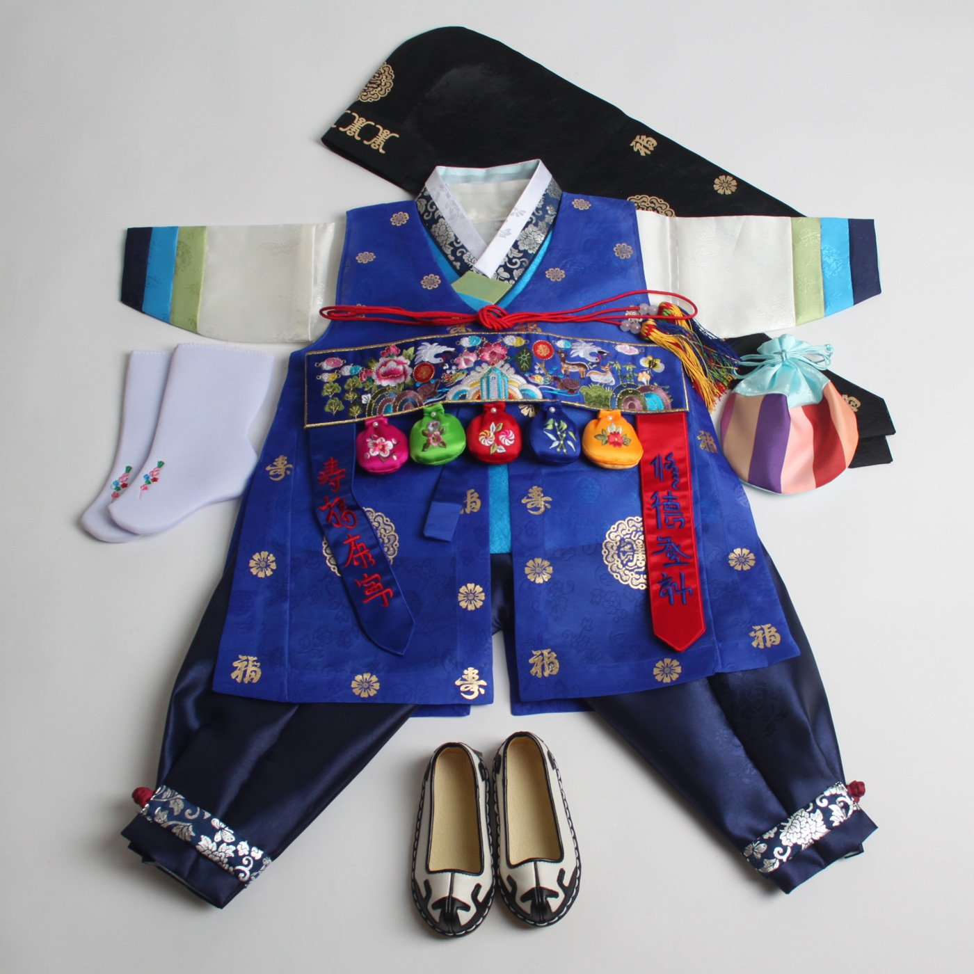 Korean hanbok boys baby's traditional ORIGINAL DOLBOK 1st birthday hb058/1