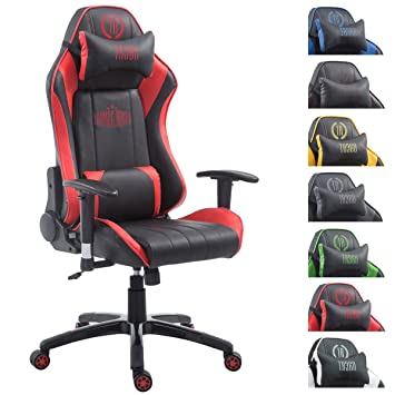 CLP Silla Gaming Shift X2 en Cuero PU I Silla Gamer con 2 Cojines I Silla Racing con Reposabrazos Regulables I Silla Oficina Deportiva I Color: ...