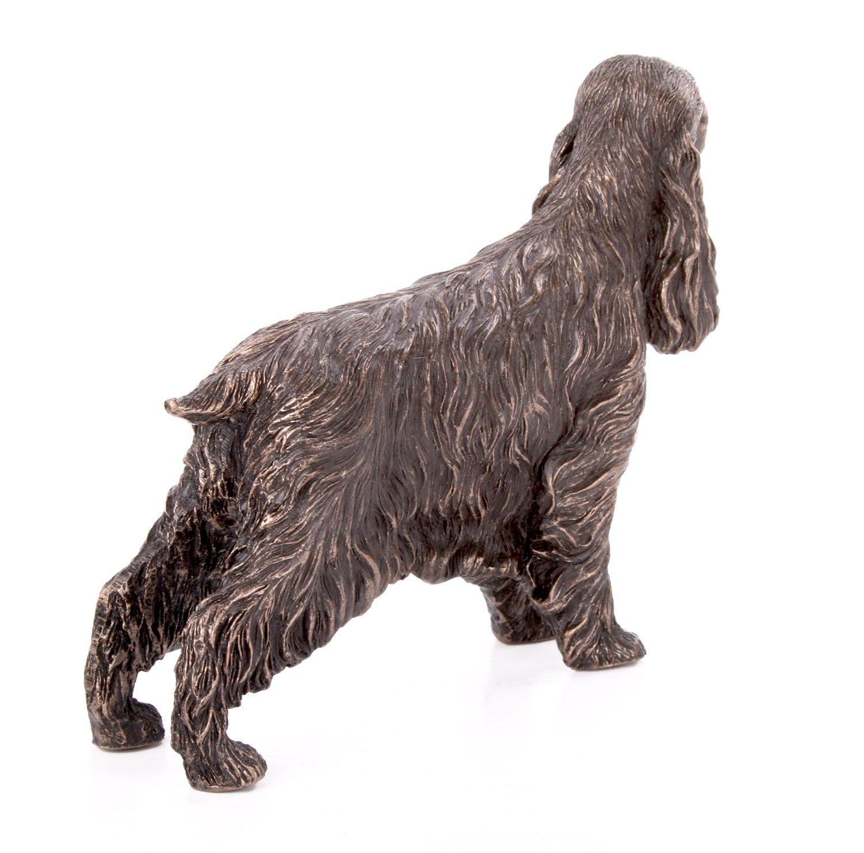 cocker spaniel debout Petite Statue en bronze coul/é /à froid Sculpture Chien Animaux de Compagnie Id/ée de cadeau H9/cm