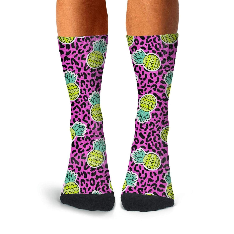 Floowyerion Mens Summer Fruits Pineapple Novelty Sports Socks Crazy Funny Crew Tube Socks