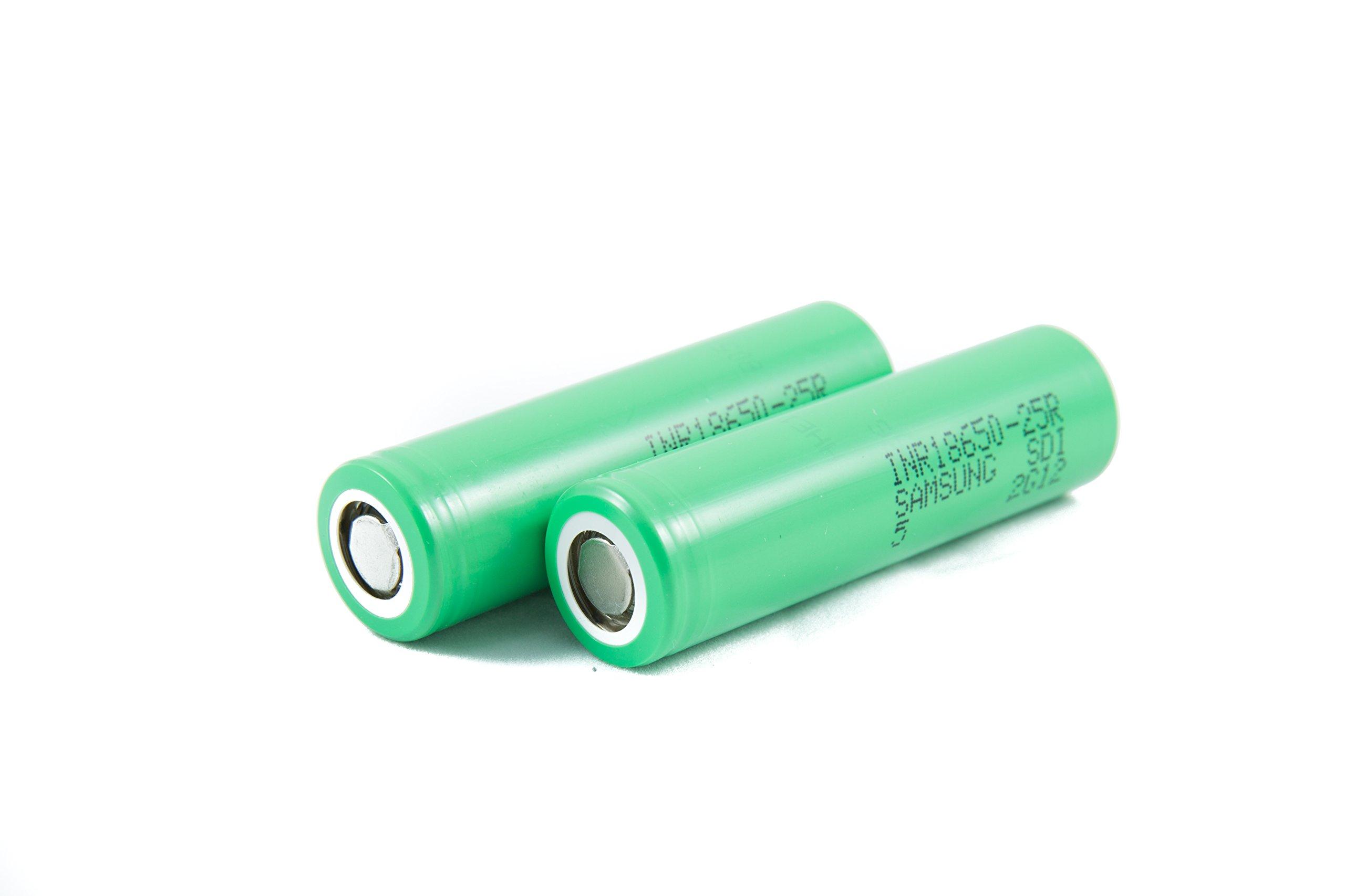 2pcs Samsung INR18650-25R 18650 2500mAh 3.7v Li-ion 20A discharge Authentic Grade-A Guarantee by CTINAW HOBBY (Image #5)