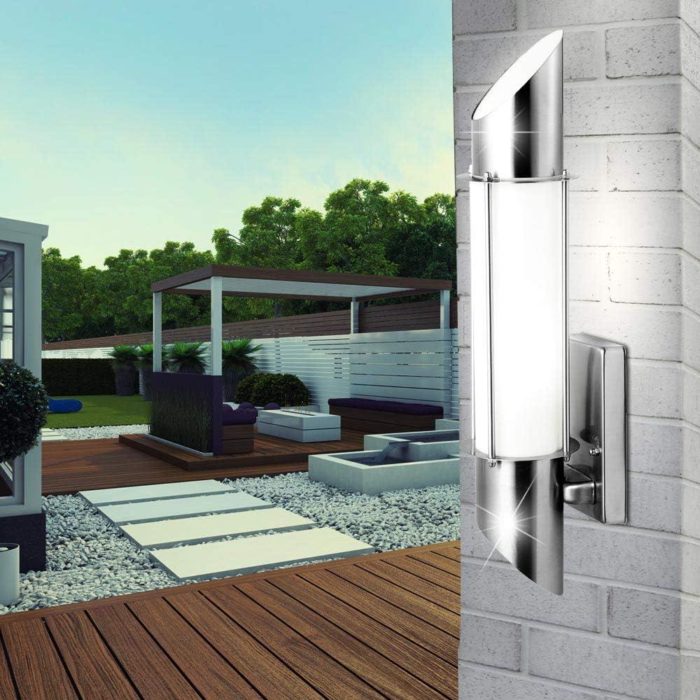 LED Edelstahl Wand Spot Lampe Leuchte Beleuchtung Veranda Garten Strahler RGB Fernbedienung dimmbar Farbwechsler Ohne Leuchtmittel