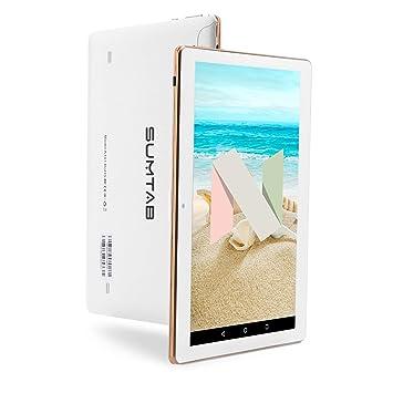 SUMTAB Tablet 10 Pulgadas(3G,Android 7.0, IPS 1280*800 HD, Quad Core, 2GB + 16GB, Dual SIM, Dual Camera, GPS, Wi-Fi, OTG.)
