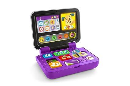 Fisher-Price Mi primer ordenador, juguete educativo bebé +6 meses (Mattel FXK32