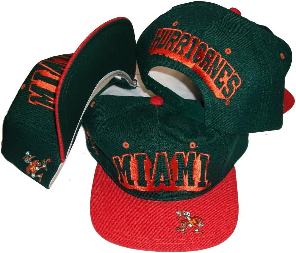 Miami Hurricanes Vintage de dos tonos gorra ajustable plástico ...