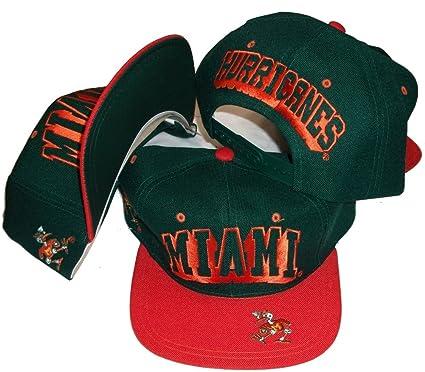 f1a54d724deb Amazon.com: Miami Hurricanes Vintage Two Tone Snapback Adjustable ...