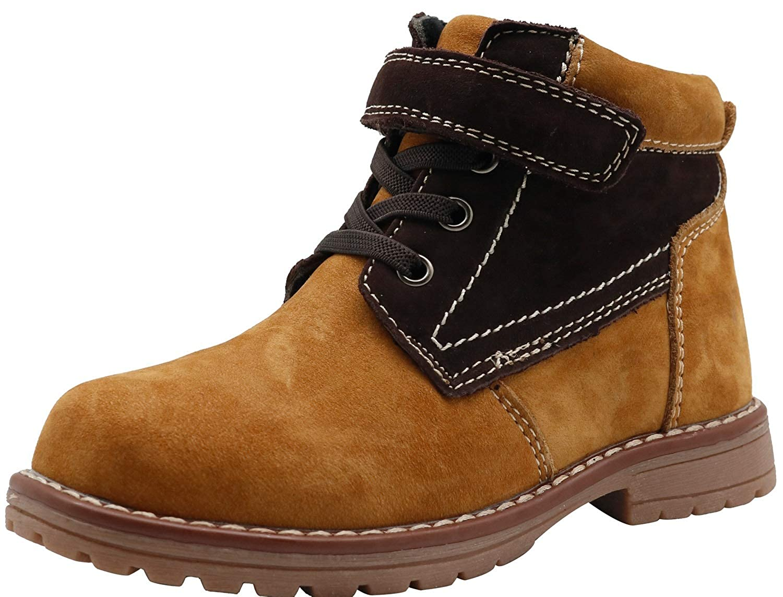 Apakowa Kids Boys Autumn Leather Boots (Toddler/Little Kid)