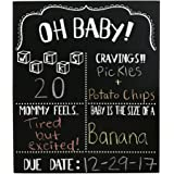 JennyGems Pregnancy Announcement Chalkboard & Photo Prop For Use With Actual Chalk (Do Not Use Liquid Chalk Pens)