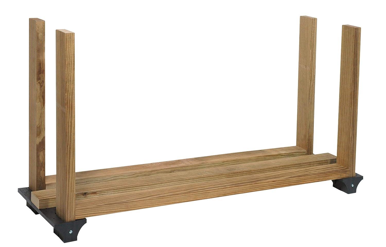 Hopkins 90144 2x4basics Firewood Rack System, Black